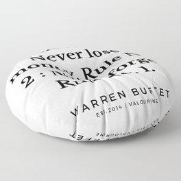 10  | Warren Buffett Quotes | 190823 Floor Pillow