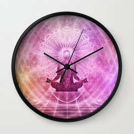 Spiritual Yoga Meditation Zen Colorful Wall Clock