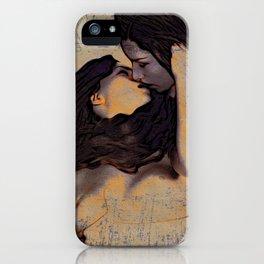 Women Kissing iPhone Case