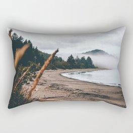 Foggy Washington coast morning Rectangular Pillow