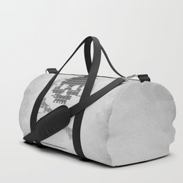 Grunge 8bit Glitch crossbones Duffle Bag
