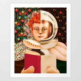 History of the Book Art Print