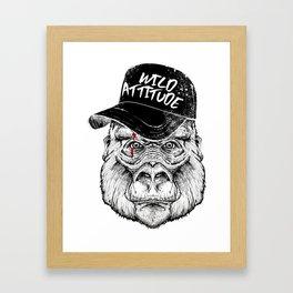 badass gorilla monkey Framed Art Print