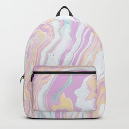 Colorful grunge marble Backpack