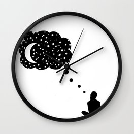 thinking about space Wall Clock