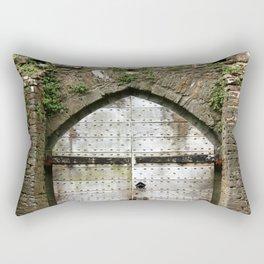 Caerphilly Castle Gate Rectangular Pillow