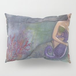 Mermaid and her pet Seahorse Pillow Sham