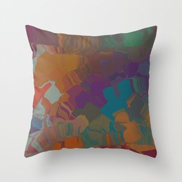 Abstract Subdued Colors Throw Pillow