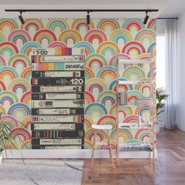 VHS & Rainbows Wall Mural