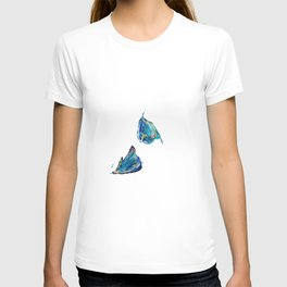 Floating Blue Poppy Petals T-shirt