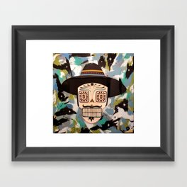 Space Is Fake Framed Art Print
