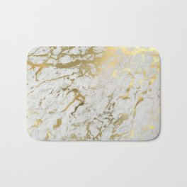 Gold marble Badematte