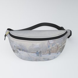 Snow Scene at Argenteuil Fanny Pack
