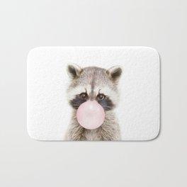 Bubble Gum Raccoon Bath Mat