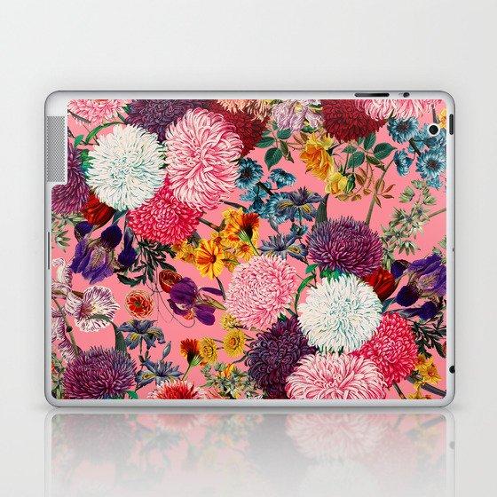 Floral Pink Pattern Laptop & iPad Skin