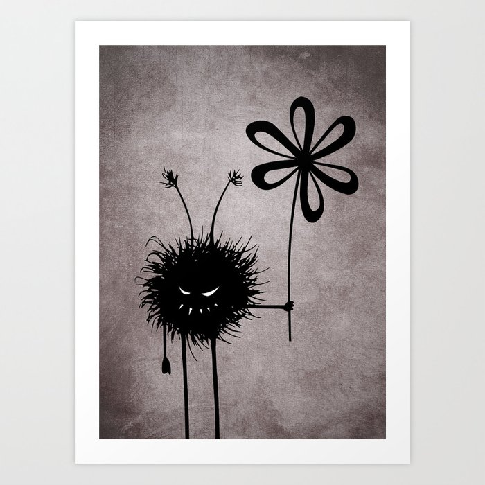 Evil Flower Bug Art Print
