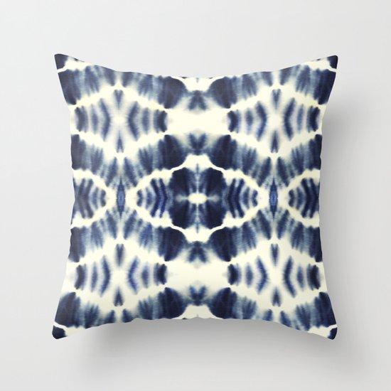 Indigo Blue Throw Pillow : BOHEMIAN INDIGO BLUE Throw Pillow by Nika Society6