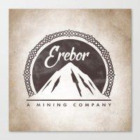 gondor Canvas Prints featuring Erebor mining company by Nxolab
