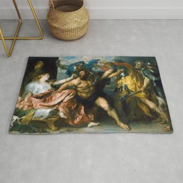 Samson and Delilah by Anthony van Dyck (1630) Rug