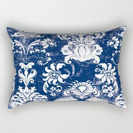 navy and white breeze Rectangular Pillow