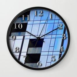 Glass Cubism Wall Clock