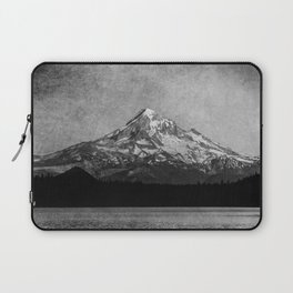 Mt Hood Black and White Vintage Nature Photography Laptop Sleeve