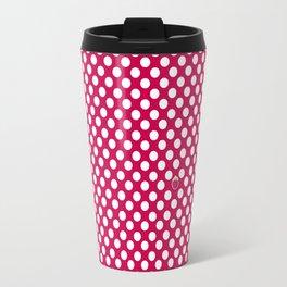 red polka dots Travel Mug