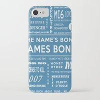 bond iPhone & iPod Cases featuring Bond Blue by Candace Fowler Ink&Co.