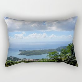Over the Clouds in St Thomas Rectangular Pillow