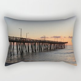 Virginia Beach Pier Sunrise2 Rectangular Pillow