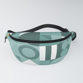 Modern geometric graphic art teal Fanny Pack