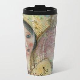 Florentine lady and the Brunelleschi dome Metal Travel Mug