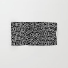 Black and white mystical Kaleidoscope 5010 Hand & Bath Towel