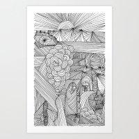 Line drawing 2 Art Print