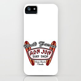 World Famous Ron Jon Surf Shop Cocca Beach Florida iPhone Case