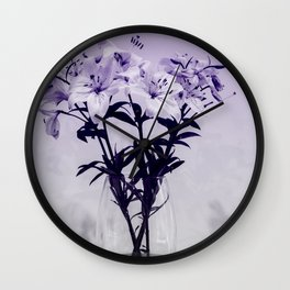 Lily Study 01 Wall Clock