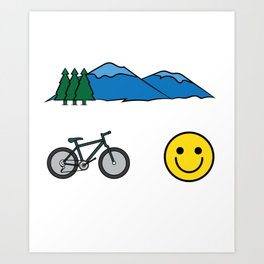 "Big fan of ""Mountain Bike""? Grab this awesome tee and wear them anytime. Stay creative and positive! Art Print"