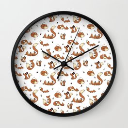 Little Foxes Wall Clock