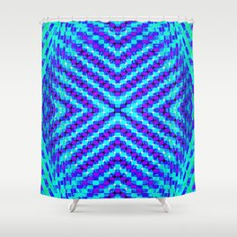 FLUX #5  Optical Illusion Vibrant Colorful Psychedelic Trippy Design Shower Curtain