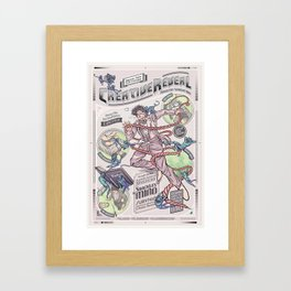 CreativeReveal - Le Designer (Variant Ver.) Framed Art Print