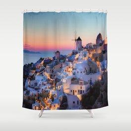 Santorin1 Shower Curtain
