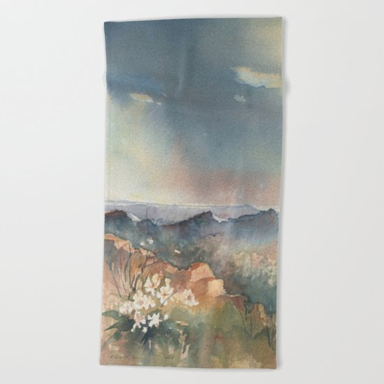 Desert Poppy Beach Towel