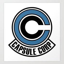 capsule corp logo Art Print