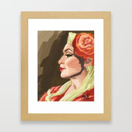 The Profile Framed Art Print