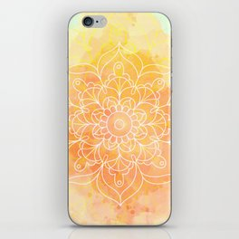 Watercolor Mandala // Sunny Floral Mandala iPhone Skin
