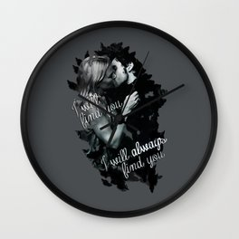 Once Upon a Time Captain Swan Wall Clock