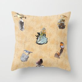 Minerals and Mind Throw Pillow