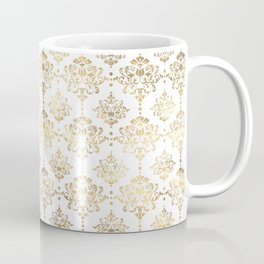 White & Gold Motif Coffee Mug