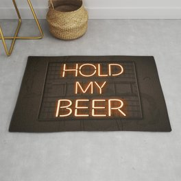 Hold My Beer Neon Bar Light Rug