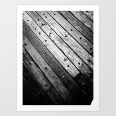 Wooden Lines Art Print